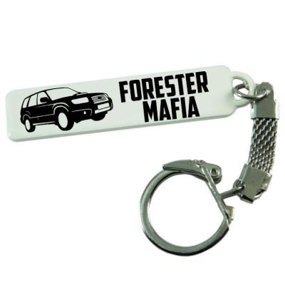 """Брелок гос. номера с надписью """"Forester Mafia"""""""