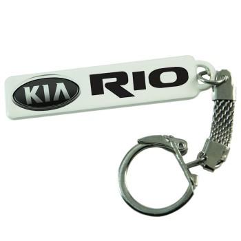 """Брелок гос. номера с надписью """"KIA Rio"""""""