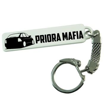 """Брелок гос. номера с надписью """"PRIORA MAFIA"""""""