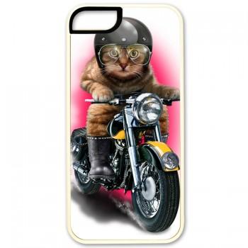 Кот байкер IPhone 5 (резина)