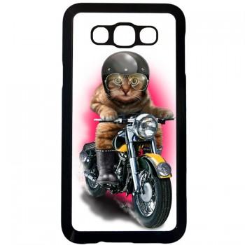 Кот байкер Samsung Galaxy E7 (пластик)