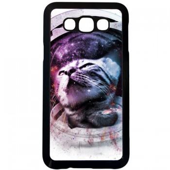 Кот космонавт Samsung Galaxy E7 (пластик)