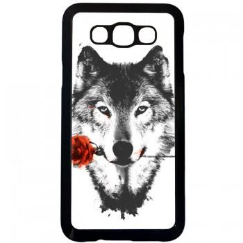 Волк с розой Samsung Galaxy E7 (пластик)