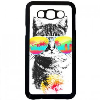Кот на отдыхе Samsung Galaxy E7 (пластик)