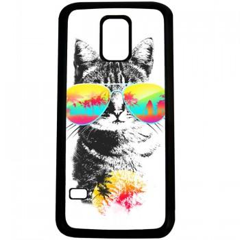 Кот на отдыхе S5 mini (пластик)
