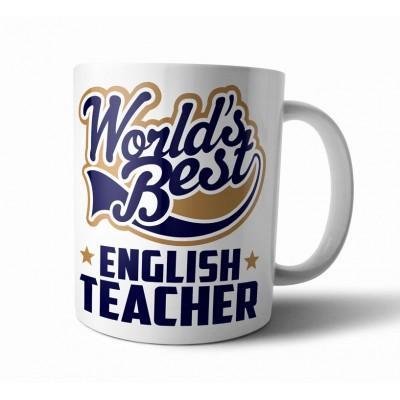 """Кружка для учителя с принтом """"World Best ENGLISH TEACHER"""""""