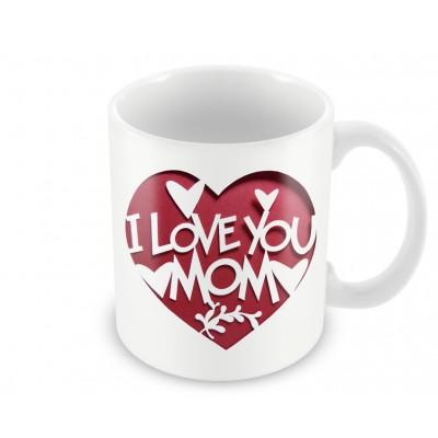 """Кружка """"I love mom"""""""