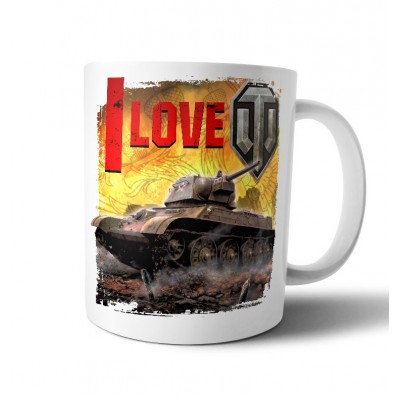 "Кружка ""I love tanks"""