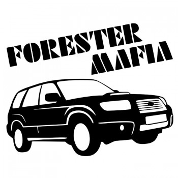 FORESTER MAFIA, наклейка (25x17см)