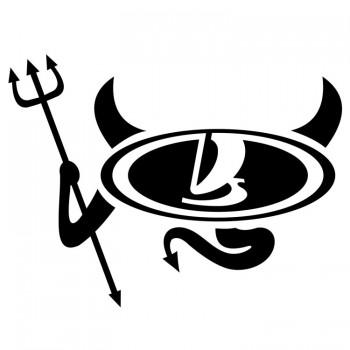 Лада дьявол, наклейка (20x15см)