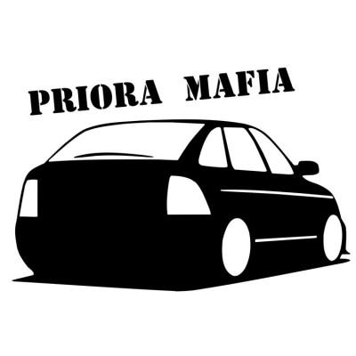 "Наклейка ""PRIORA MAFIA"""