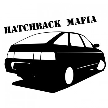 HATCHBACK MAFIA, наклейка (25x17см)