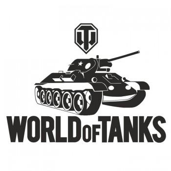 World of tanks наклейка (25x20см)