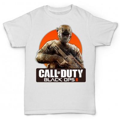 Белая футболка с принтом Call of Duty: Black Ops II