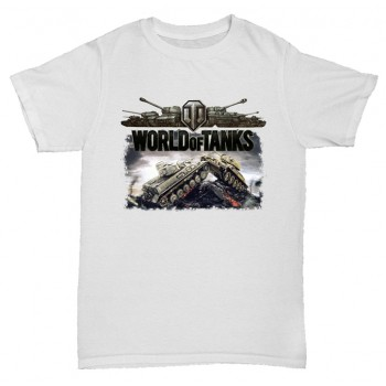 Футболка  World of tanks белая