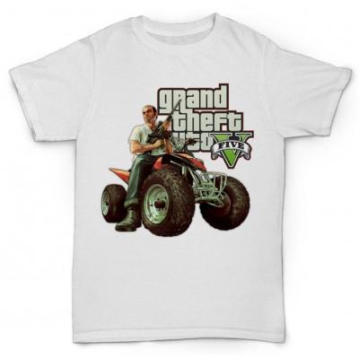 Белая футболка с принтом Тревора Grand Theft Auto V