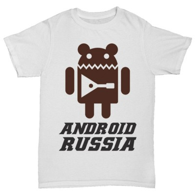 "Прикольная футболка ""ANDROID RUSSIA"""