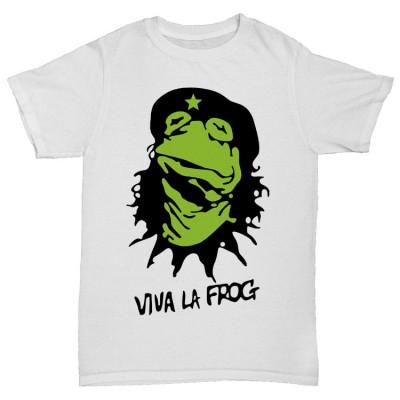 """Прикольная футболка """"VIVA LA FROG"""""""