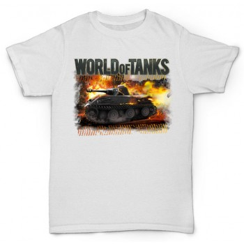 Футболка World of tanks в огне №2